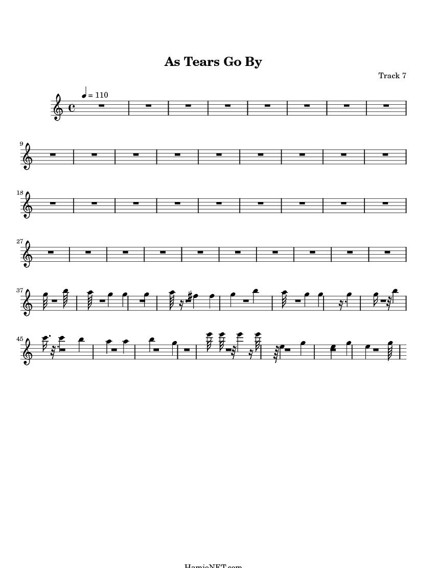 as tears go by sheet music pdf