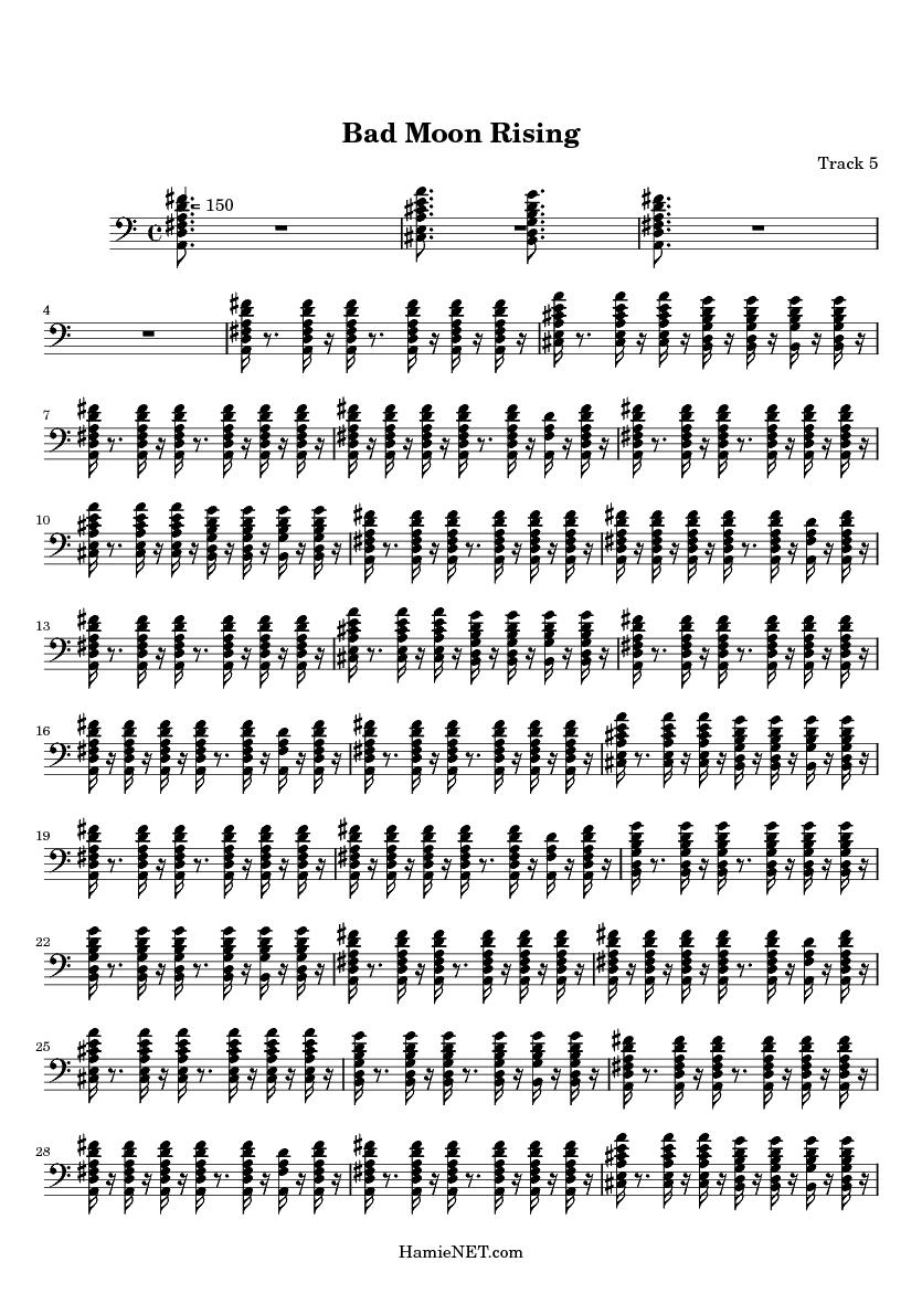 bad moon rising piano sheet music pdf