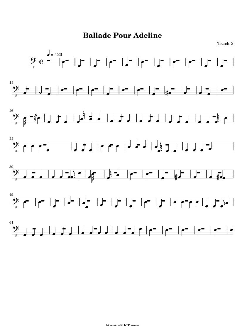 Sheet Music For Ballade Pour Adeline Ballade Pour Adeline