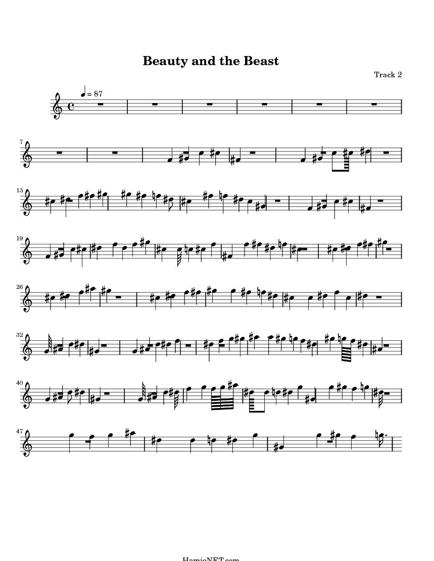 beauty and the beast sheet music free pdf