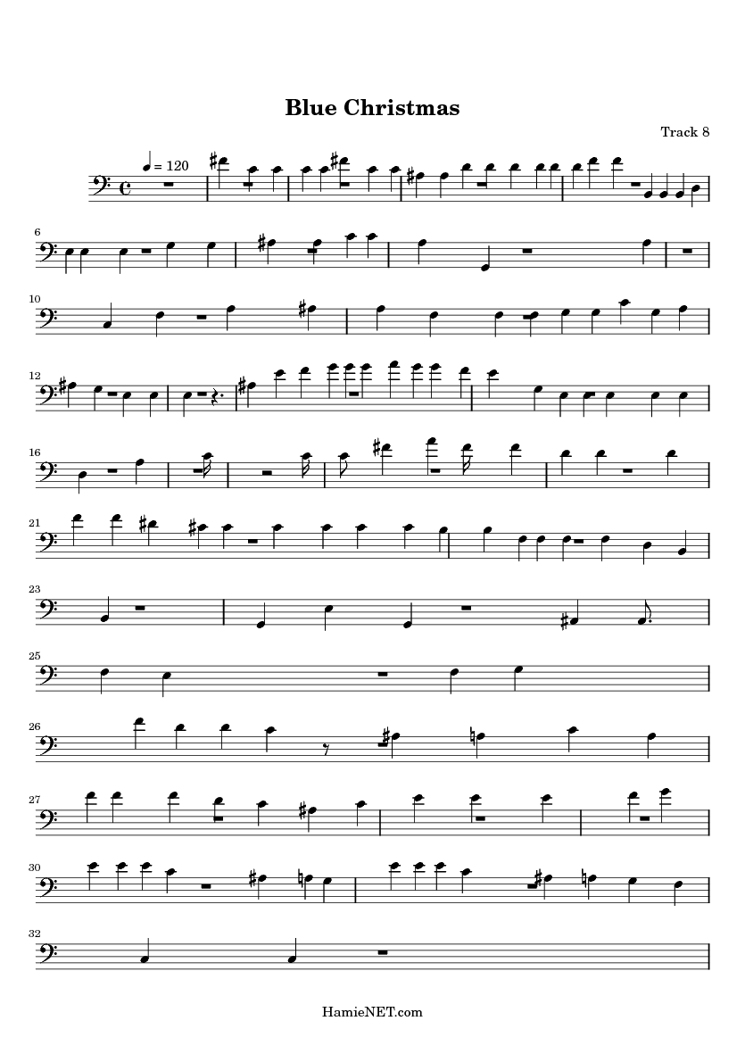 Blue Christmas Sheet Music - Blue Christmas Score ...