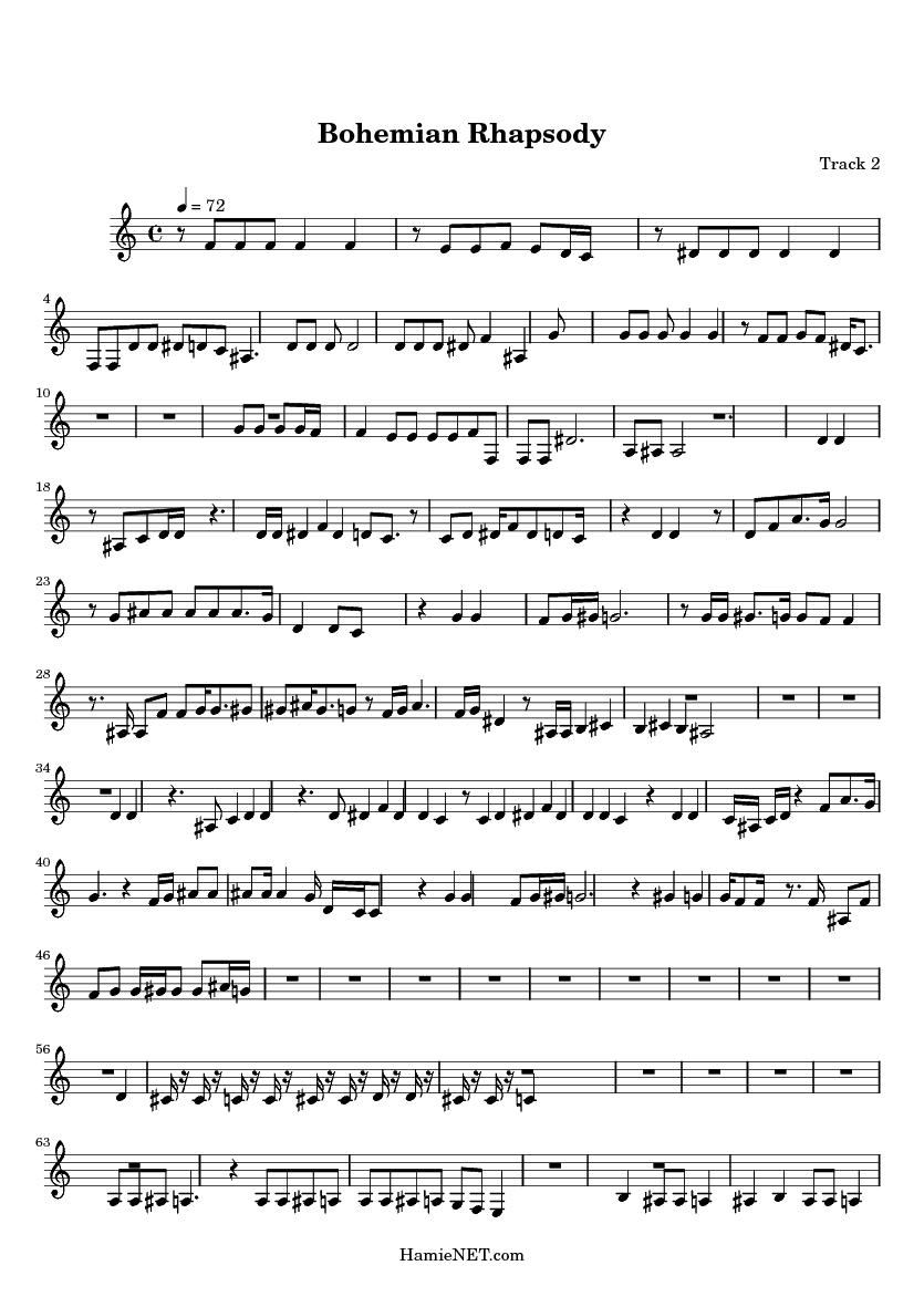 Photoaltan23 Bohemian Rhapsody Sheet Music Guitar