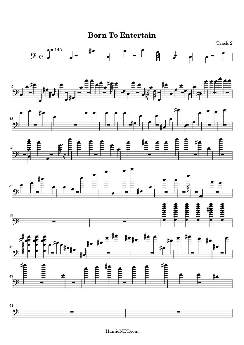 born to entertain sheet music pdf