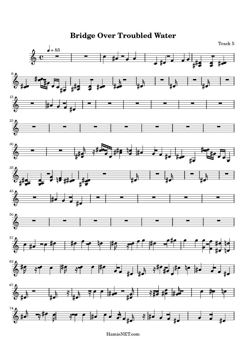 bridge over troubled water sheet music free pdf