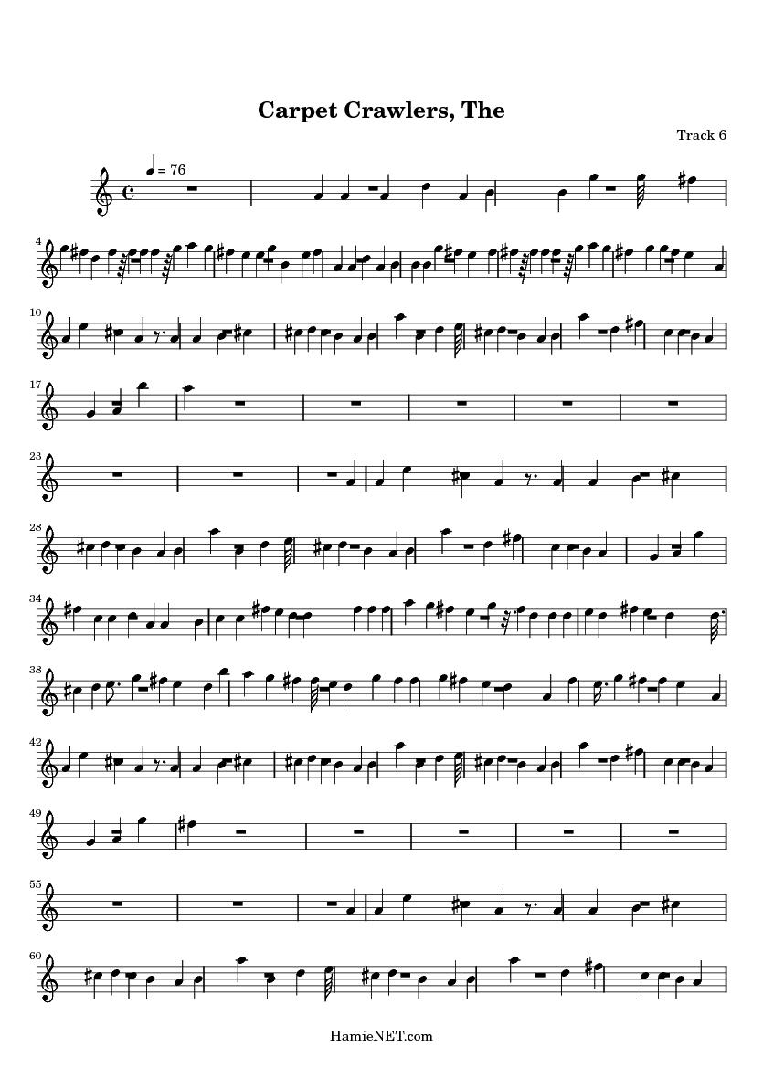 Carpet Crawlers, The > MIDI-Score Track 6