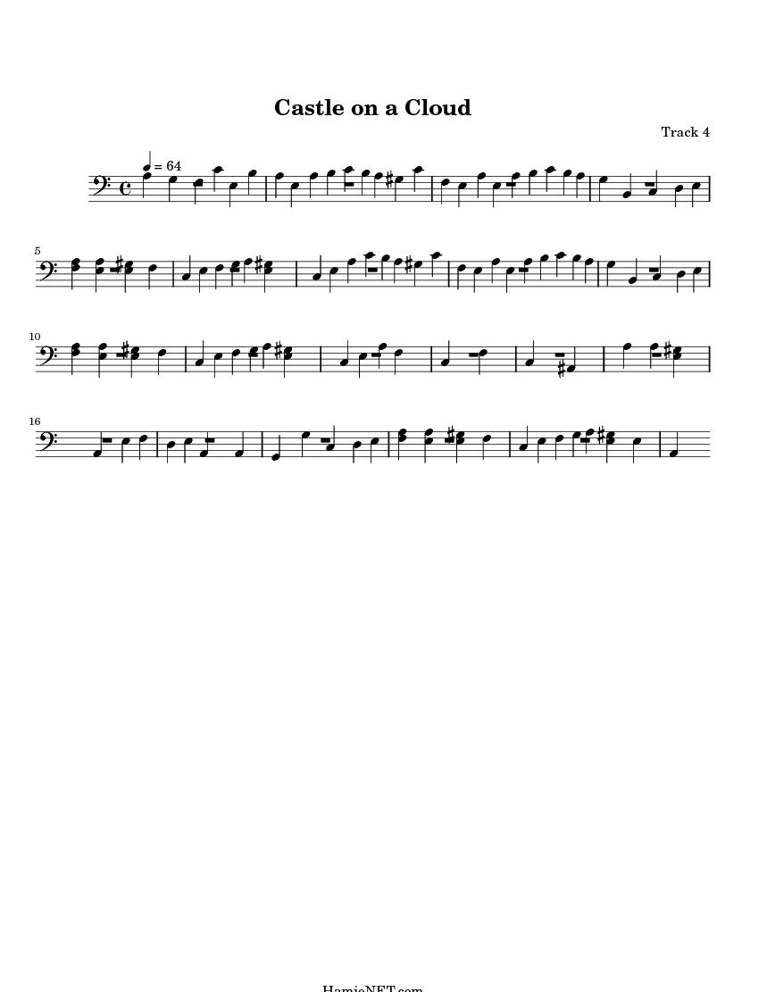 castle on a cloud sheet music pdf