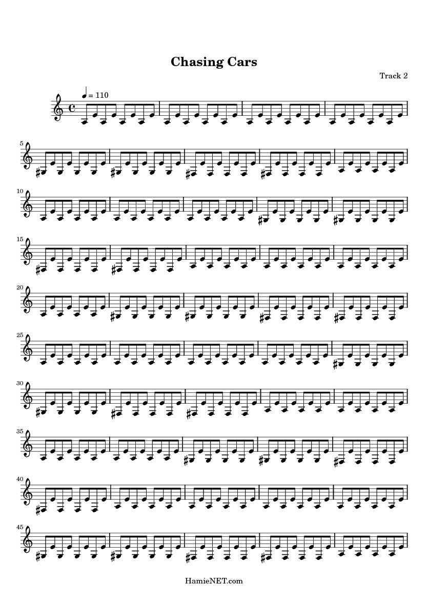 Chasing Cars Guitar Sheet Music Ibovnathandedecker