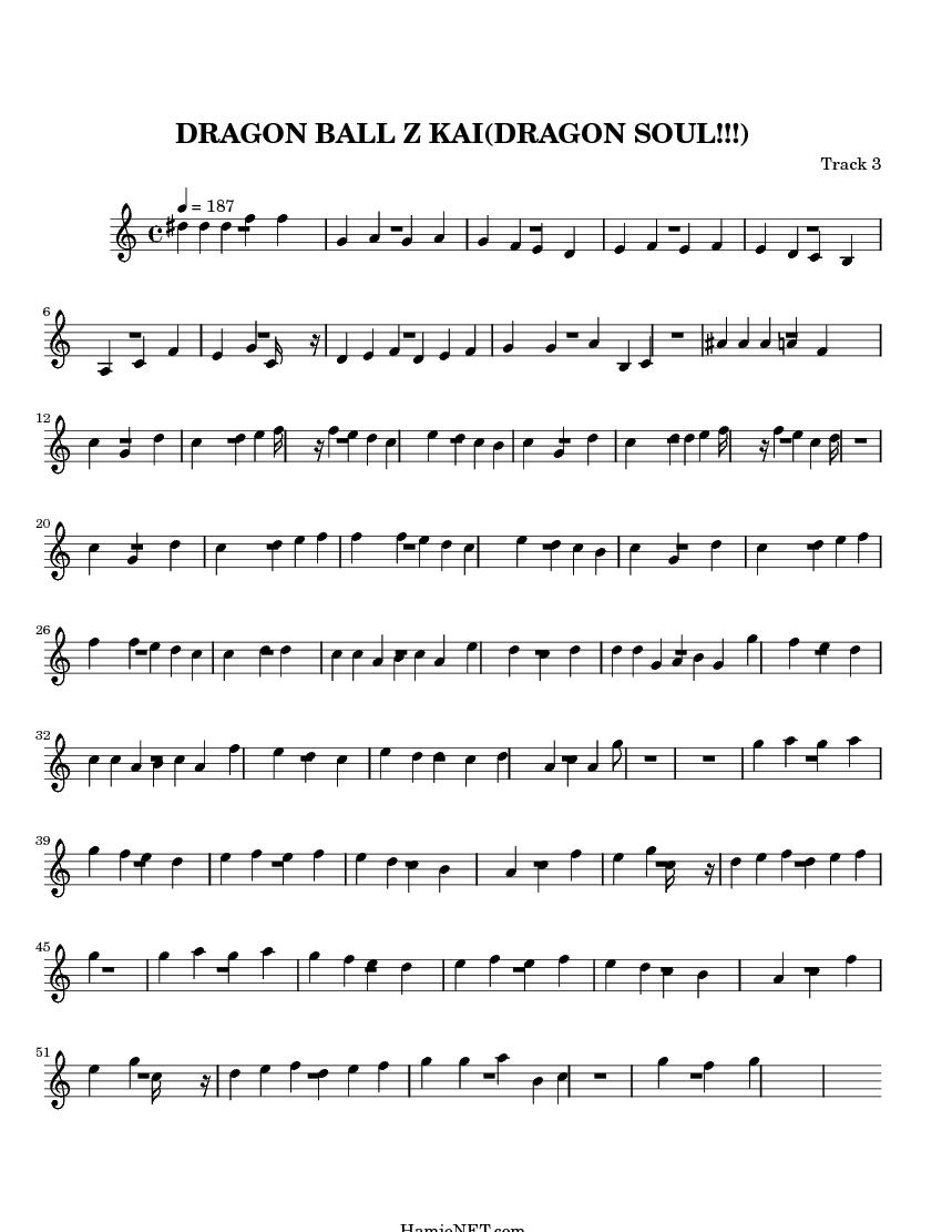 partition piano dragon ball gt