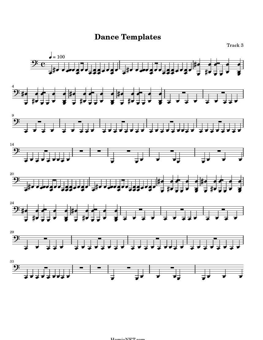 Dance Templates Sheet Music - Dance Templates Score • HamieNET.com