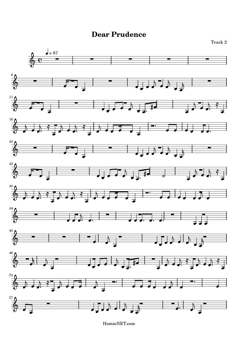 dear prudence sheet music pdf