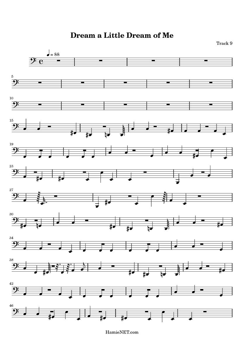 Dream a Little Dream of Me Sheet Music - Dream a Little Dream of Me Score u2022 HamieNET.com
