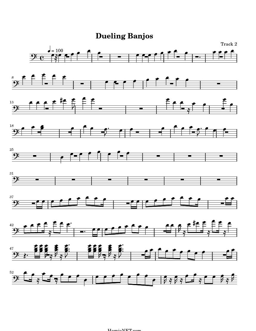 Dueling Banjos Sheet Music - Dueling Banjos Score u2022 HamieNET.com