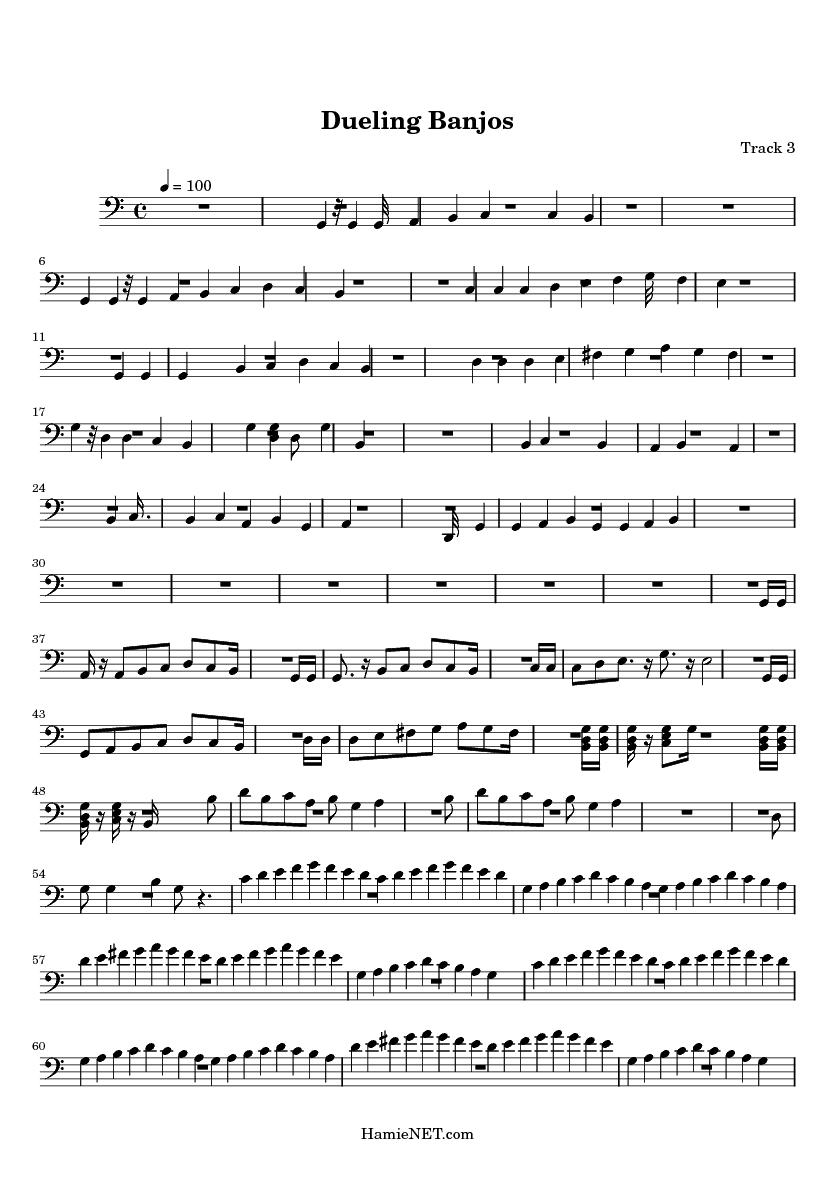 Dueling Banjos Sheet Music Guitar images