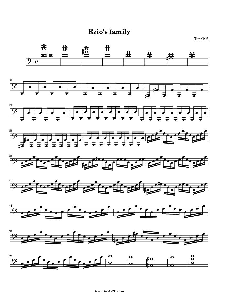 Ezio's family Sheet Music - Ezio's family Score • HamieNET.com