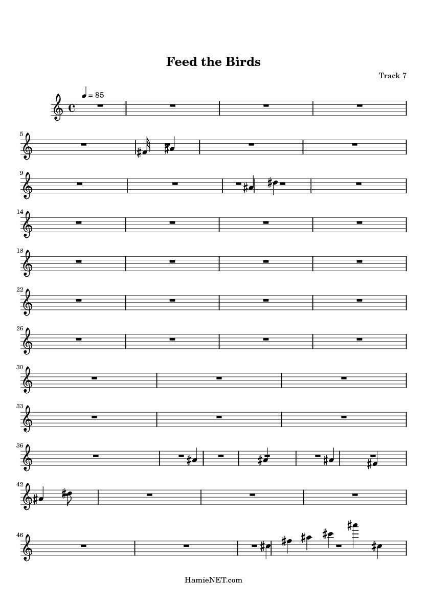 Feed the Birds Sheet Music - Feed the Birds Score • HamieNET com