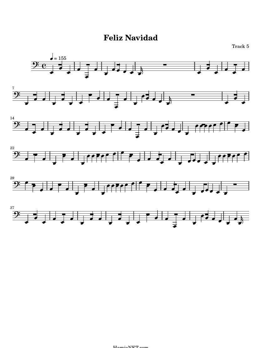 Feliz Navidad Sheet Music - Feliz Navidad Score • HamieNET.com: www.hamienet.com/score22821-5.html