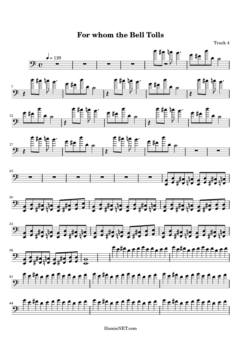 For whom the Bell Tolls Sheet Music - For whom the Bell Tolls Score u2022 HamieNET.com