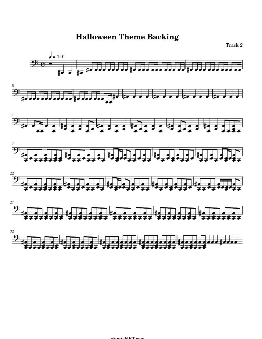 Halloween Theme Backing Sheet Music - Halloween Theme Backing ...