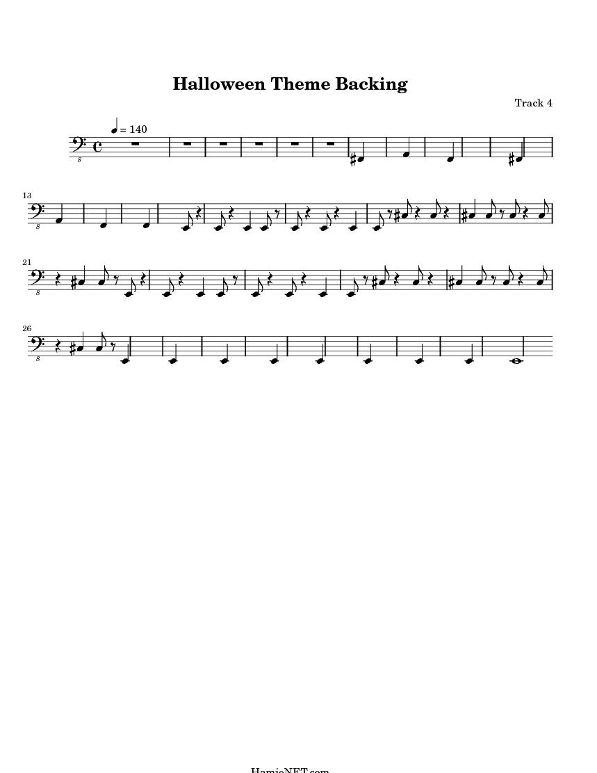halloween theme backing midi score track 4