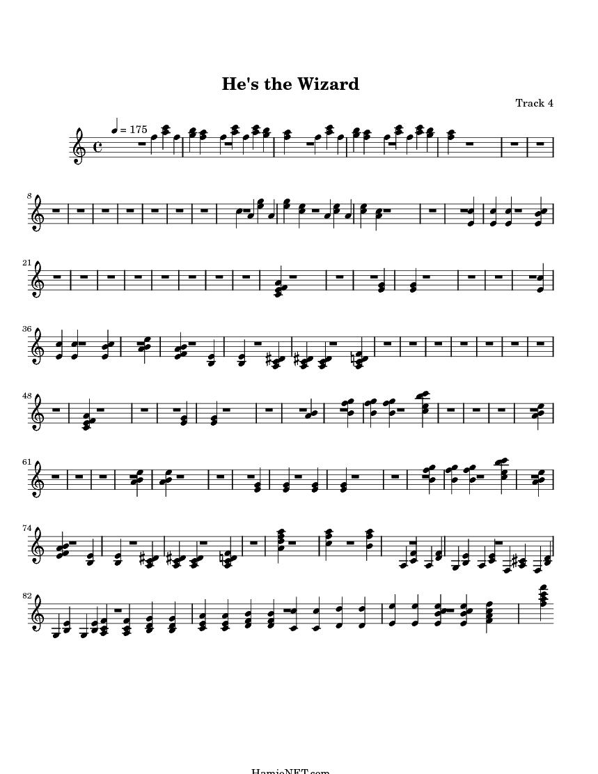he s the wizard sheet music he s the wizard score hamienet com
