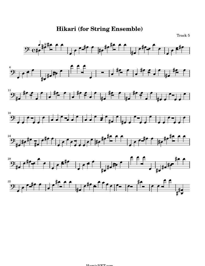 Hikari (for String Ensemble) Sheet Music - Hikari (for