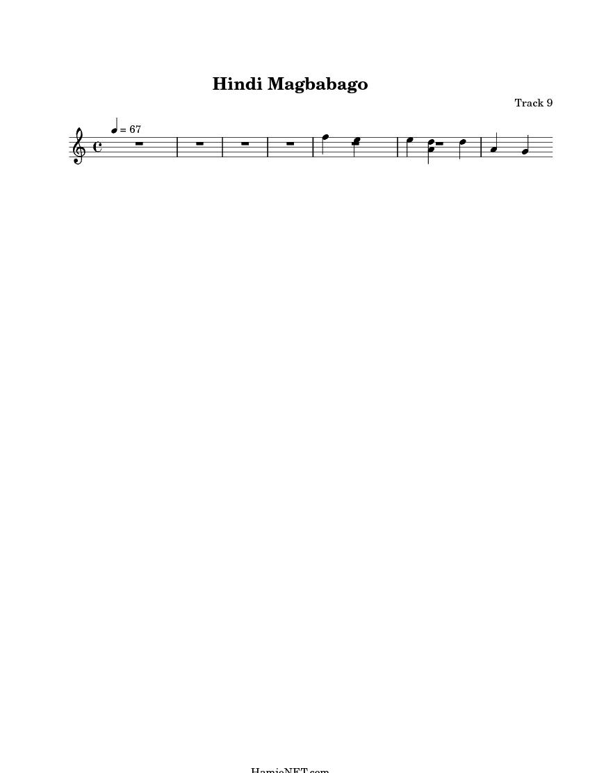 Hindi Magbabago Sheet Music - Hindi Magbabago Score • HamieNET com
