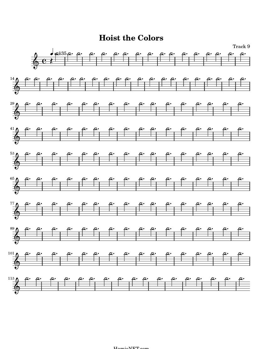 Hoist The Colors Sheet Music Score Hamienet Com