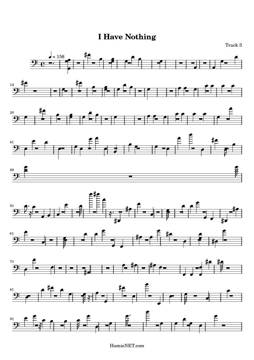 i have nothing sheet music pdf