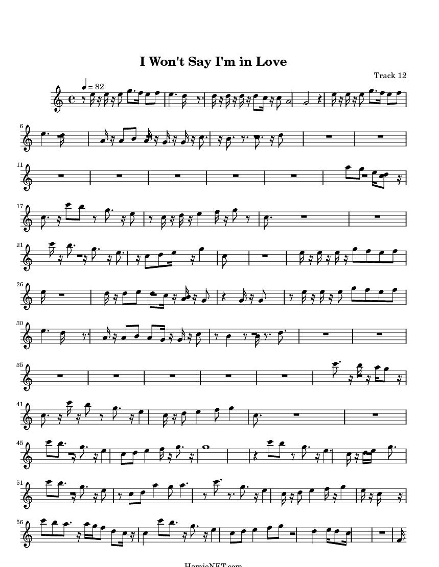 I Won't Say (I'm In Love) lyrics by Disney with meaning. I ...