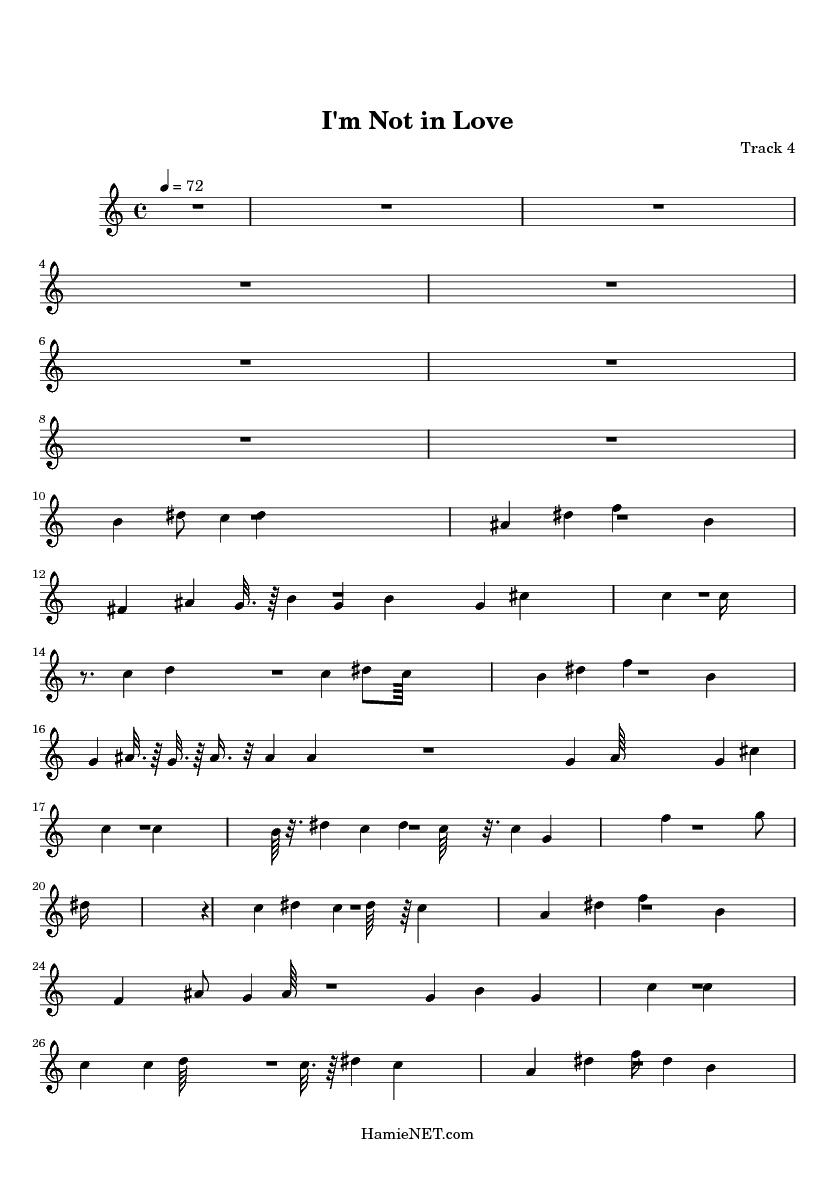i m not in love sheet music pdf