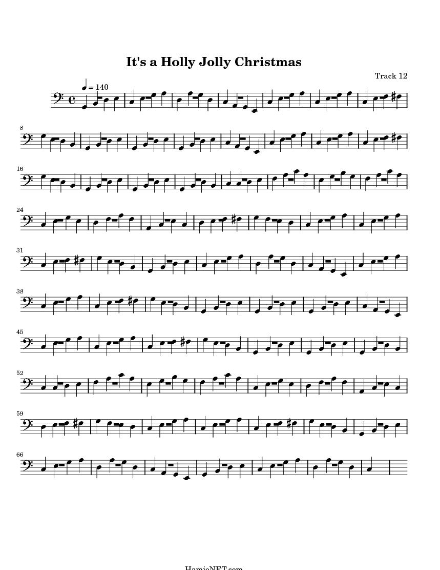 It\'s a Holly Jolly Christmas Sheet Music - It\'s a Holly Jolly ...