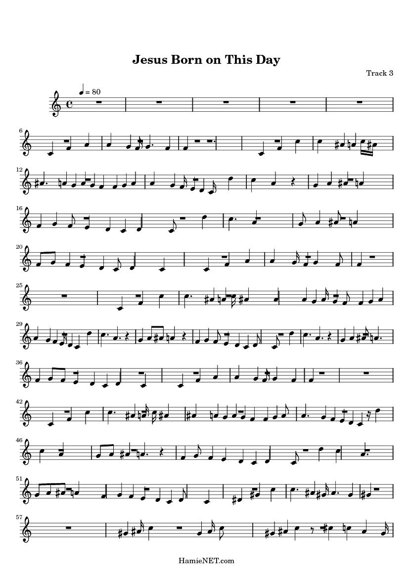 Jesus Born on This Day Sheet Music - Jesus Born on This Day Score • HamieNET.com