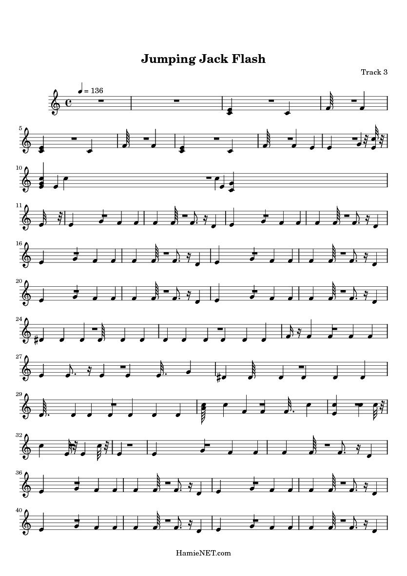 Jumping Jack Flash Sheet Music - Jumping Jack Flash Score
