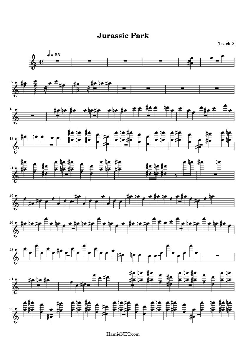 Jurassic Park Sheet Music - Jurassic Park Score u2022 HamieNET.com