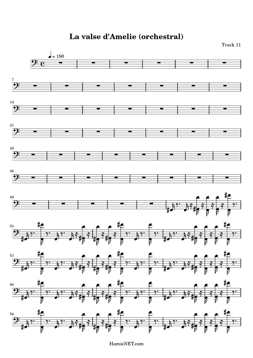 La Valse Damelie Orchestral Sheet Music La Valse D