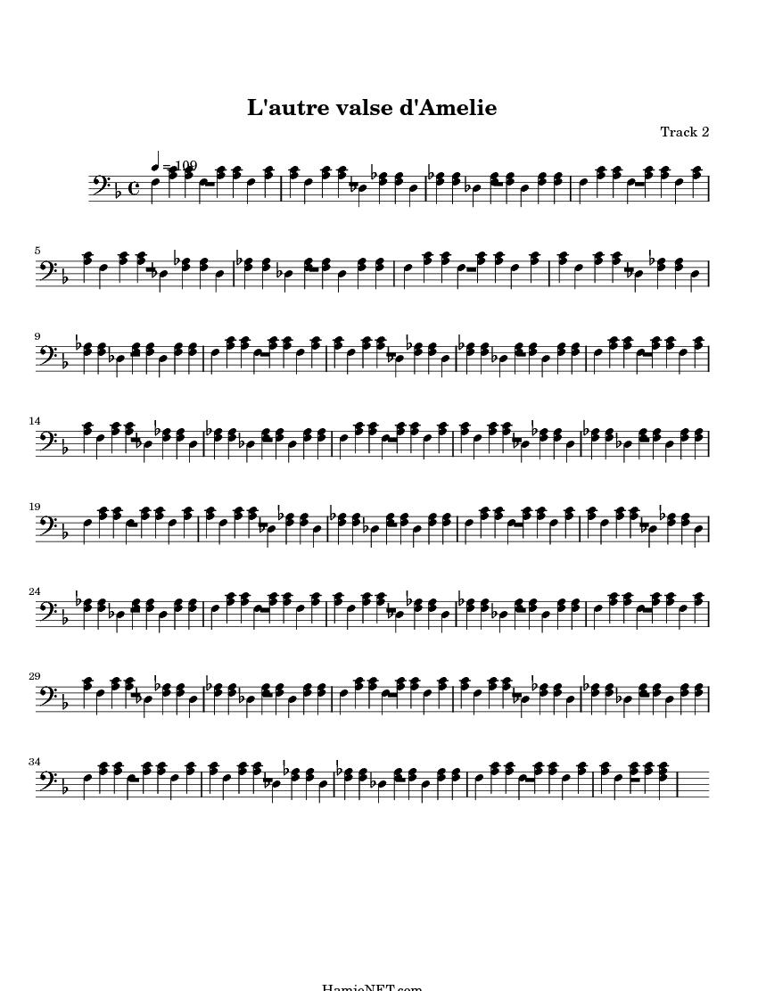 Lautre Valse Damelie Sheet Music Lautre Valse Damelie