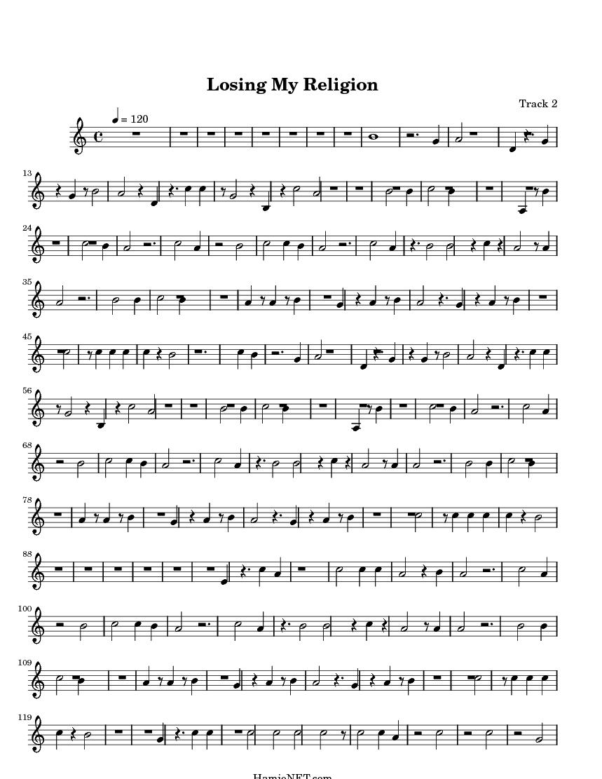 Losing My Religion Sheet Music Antaexpocoaching
