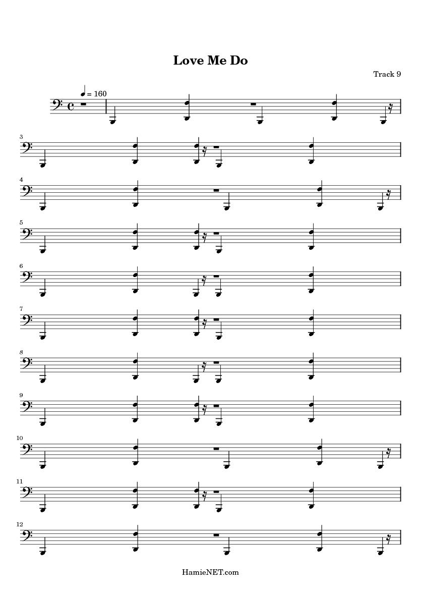 Love Me Do Sheet Music - Love Me Do Score u2022 HamieNET.com