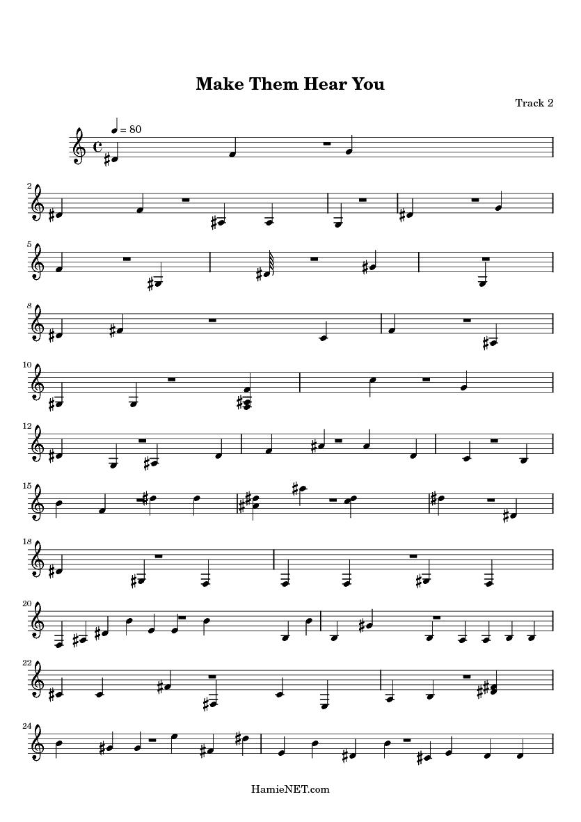 make them hear you sheet music pdf