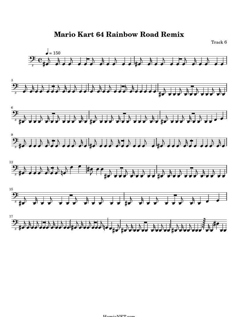 Mario Kart 64 Rainbow Road Remix Sheet Music Mario Kart 64