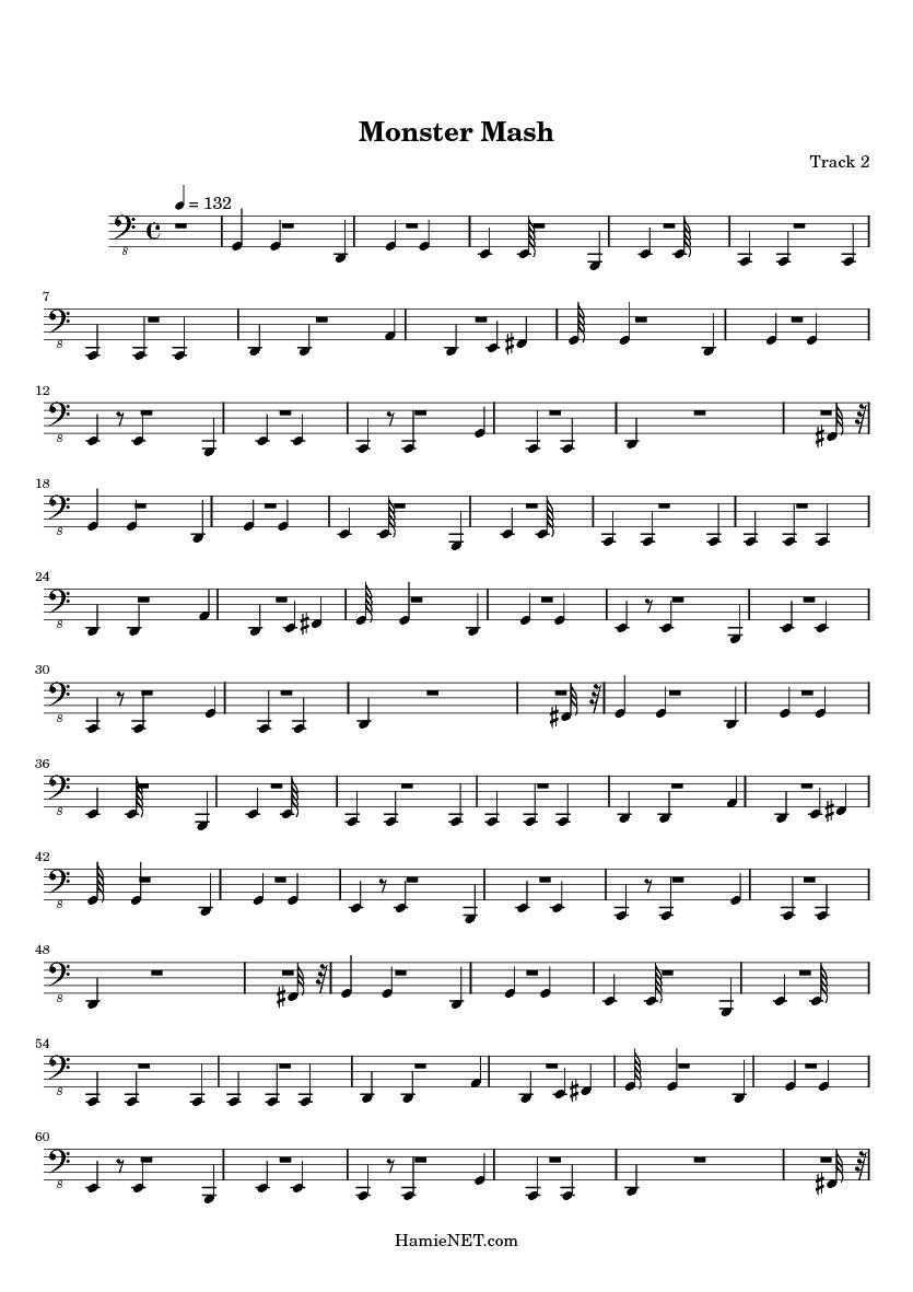 Monster Mash Sheet Music Nurufunicaasl