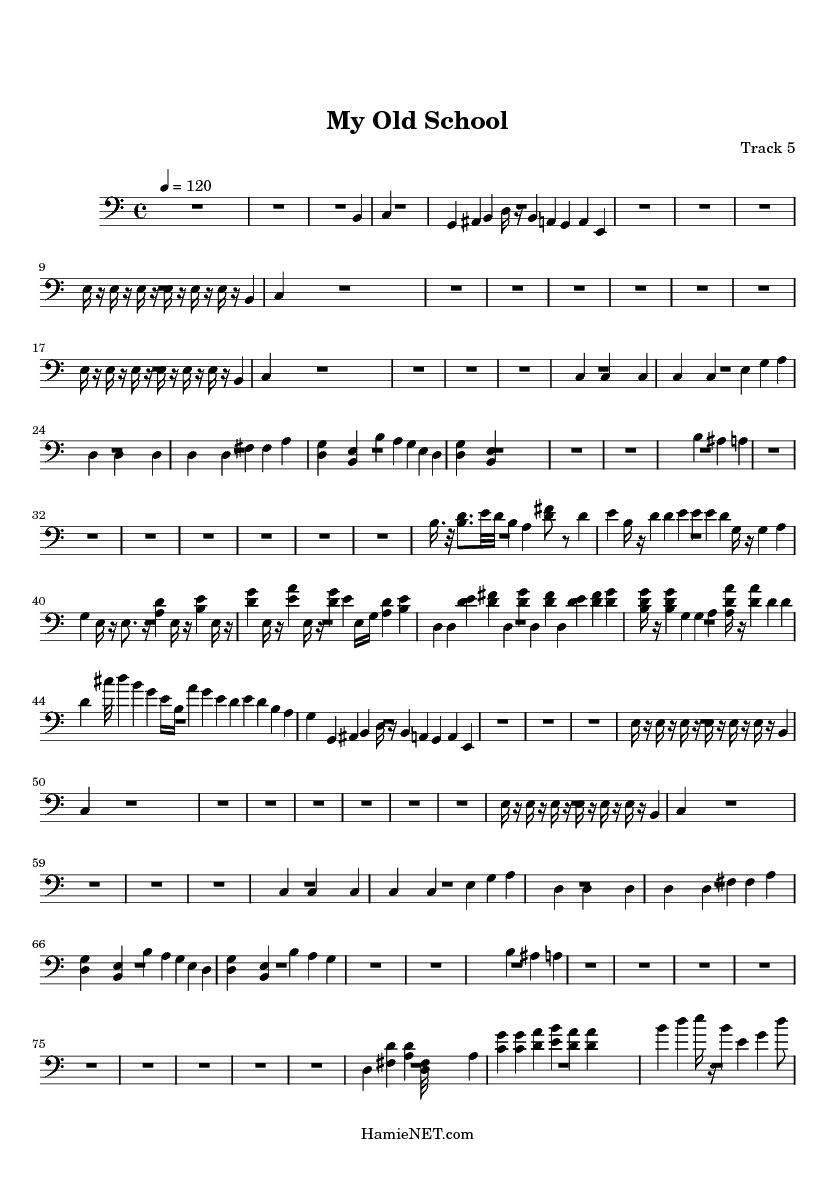 My Old School Sheet Music - My Old School Score • HamieNET com