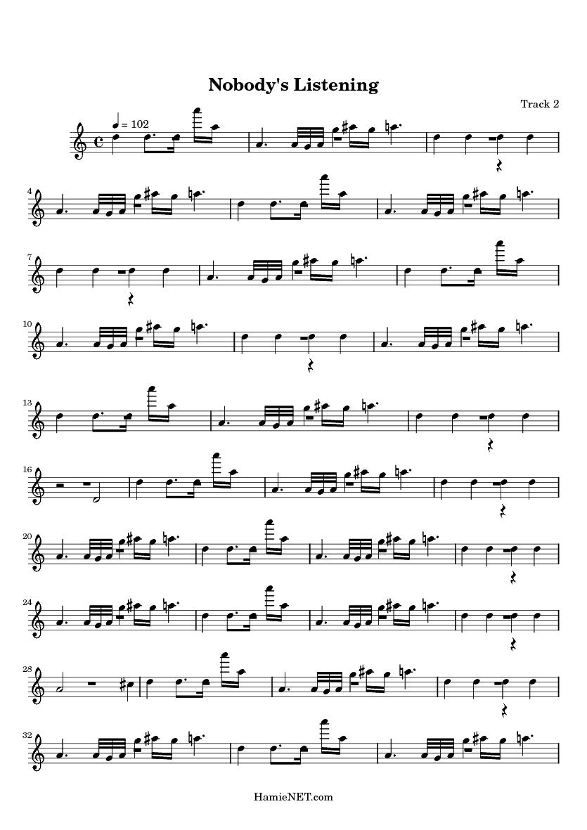 Nobody S Listening Sheet Music Nobody S Listening Score Hamienet Com Lyrics for nobody's listening by linkin park. hamienet com