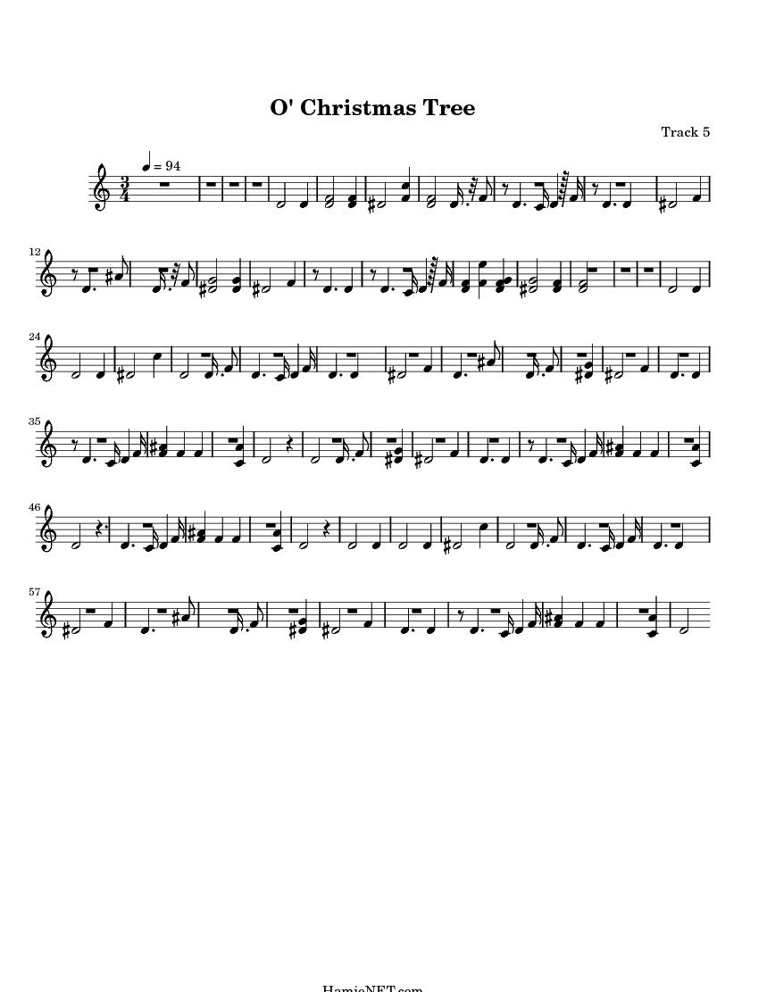 O\' Christmas Tree Sheet Music - O\' Christmas Tree Score • HamieNET.com