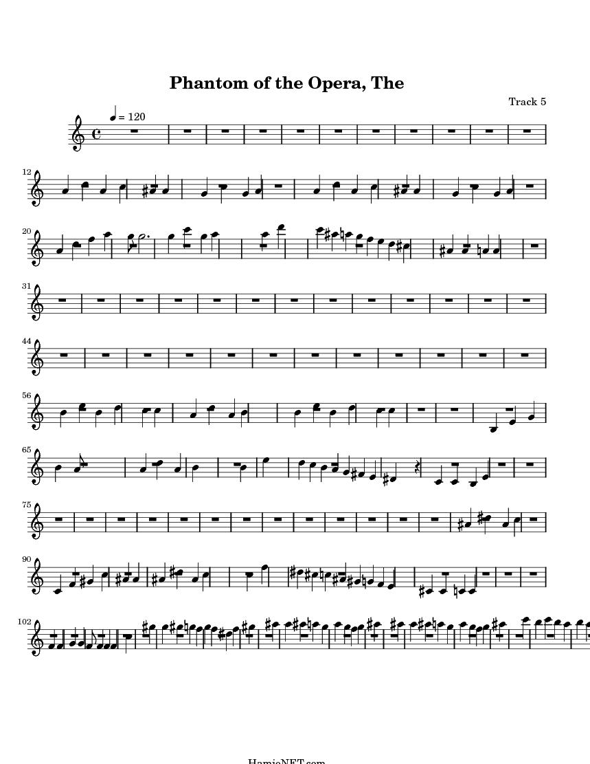phantom of the opera free sheet music for viola
