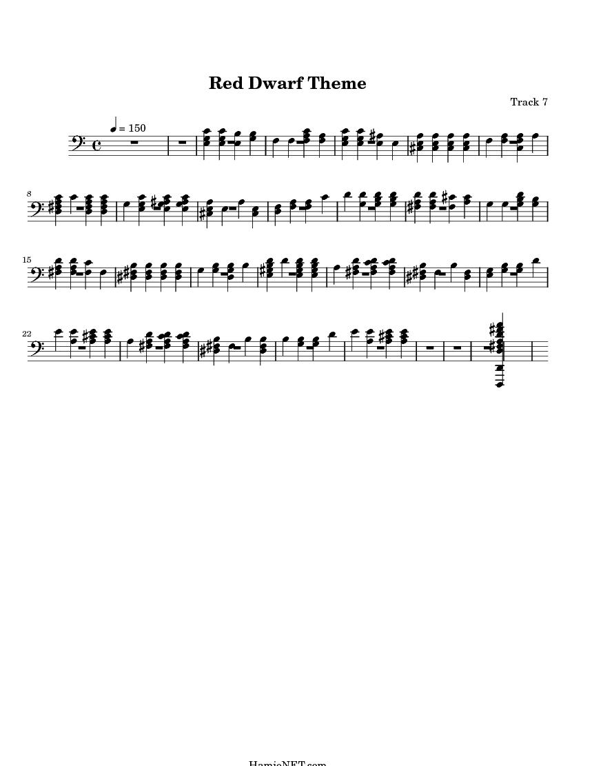 Red Dwarf Theme Sheet Music - Red Dwarf Theme Score ...