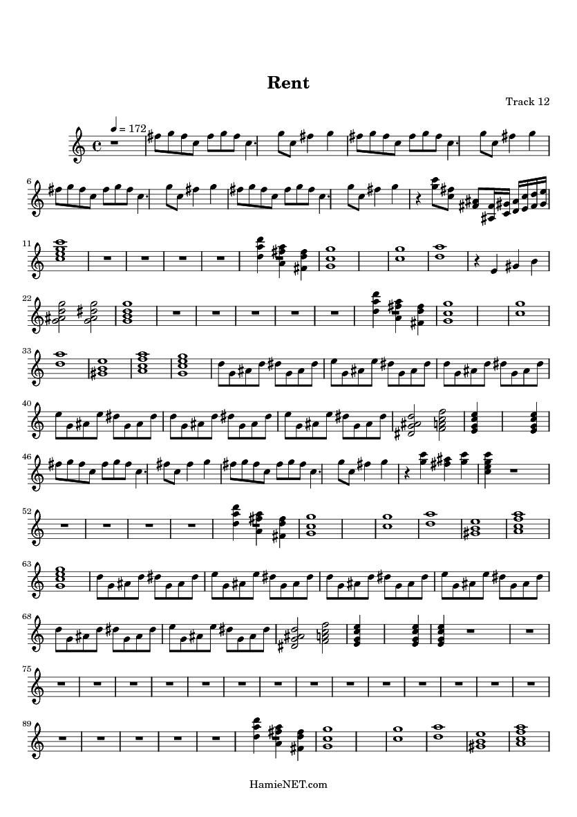 Rent sheet music rent score for House music midi