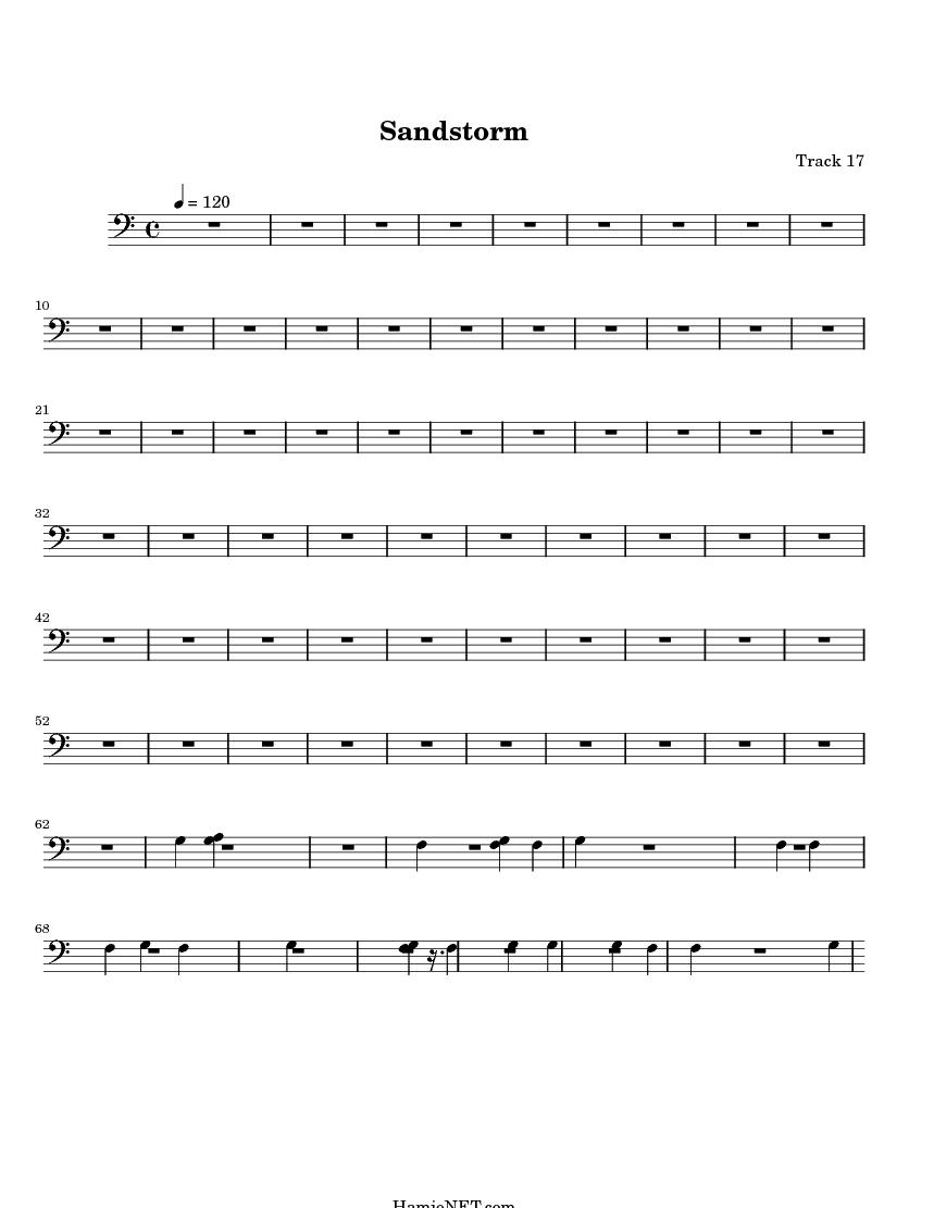 Sandstorm Sheet Music Sandstorm Score Hamienet Com