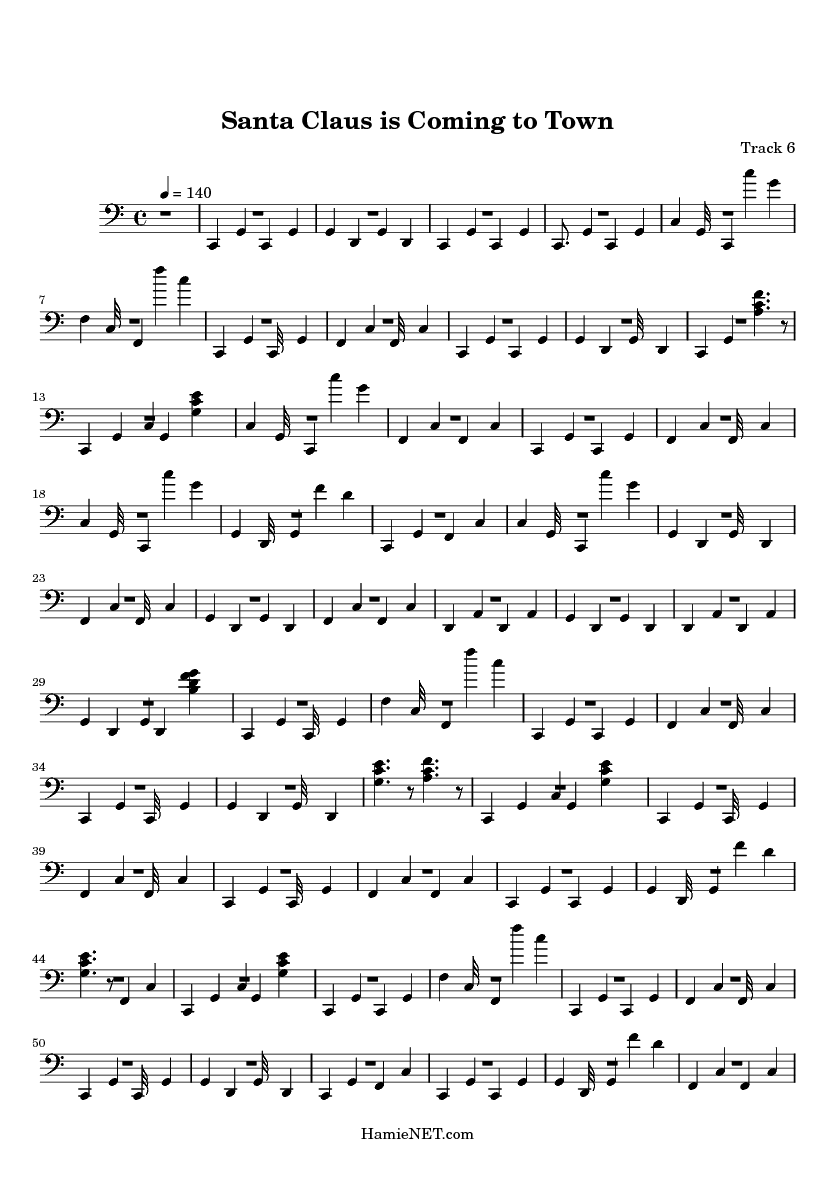 Santa Claus Is Coming To Town Sheet Music Santa Claus Is Coming To