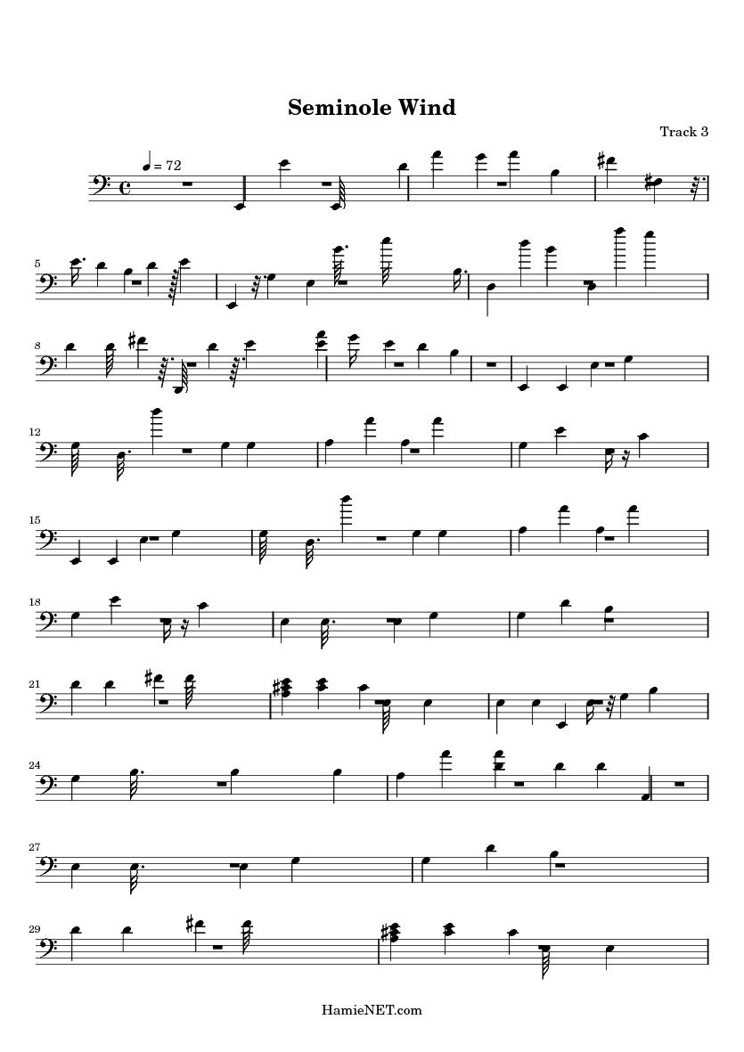 Seminole Wind Sheet Music Keninamas